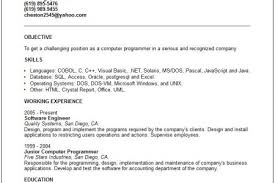 Examples On Resumes by Common Computer Programs On Resume