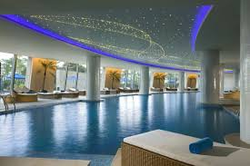 swimming pool beautiful sparkling ceiling in indoor pool combined
