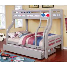 Bunk Bed With Twin Over Full by Solpine Twin Over Full Bunk Bed Furniture Of America Cm Bk618gy 6