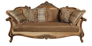 sofa in monarch three seater sofa in brown davenue