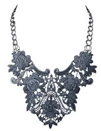 lace necklace images Gun metal lace necklace a thrifty mom recipes crafts diy and png