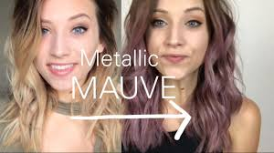 metallic mauve hair color how i style my hair bianca gover