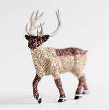woodland home decor forest reindeer brown glittered wedding or