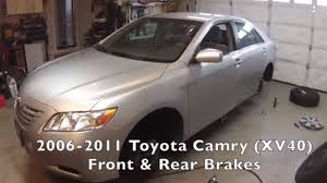 2011 toyota camry change interval front rear brakes toyota camry 2006 2011