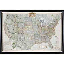 map usa framed executive us push pin travel map with black frame and