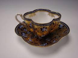 antique coalport china aesthetic cobalt gold gilt cup saucer