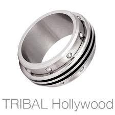 mens spinner rings stainless steel rings for men tribal