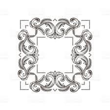 vintage damask ornamental elements for design baroque