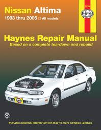 nissan altima 93 06 for altima haynes repair manual haynes manuals
