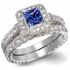 blue wedding rings heirloom wedding ring sets