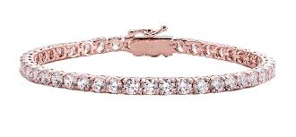 classic gold bracelet images 18 kgp rose gold 4mm classic tennis bracelet with double security png