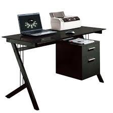 Computer Table Fabulous Computer Desk For Laptop With Furniture Black Glass