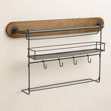 kitchen wall storage modular kitchen wall storage spice rack with cup hooks world market