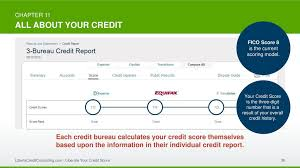 three bureau credit report liberate your credit ppt