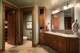 alder wood cabinets bathroom rustic with bathroom storage dark