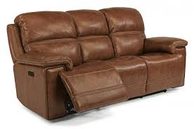 Power Leather Recliner Sofa Fenwick Flexsteel