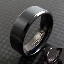 black titanium wedding bands titanium engagement and wedding jewelry ebay