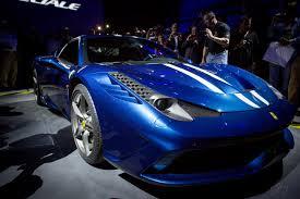 Ferrari 458 Blue - unveiling of the ferrari 458 speciale vancouver automotive magazine