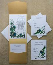 wedding invitations ebay peacock wedding invitations ebay