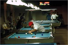 in a changing village the pool tables look the same the new