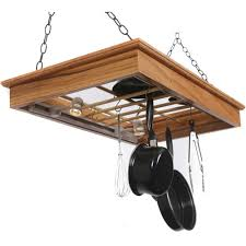 Kitchen Cabinet Pot Organizer Kitchen Update Your Kitchen In Style With Lighted Pot Rack