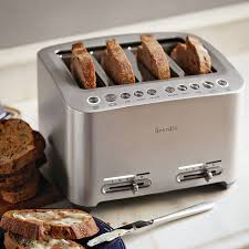4 Slice Bread Toaster Breville Die Cast 4 Slice Smart Toaster Williams Sonoma