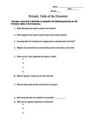 all worksheets atoms and the periodic table worksheet answers