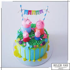 peppa pig cakes peppa pig cake singapore river ash bakery