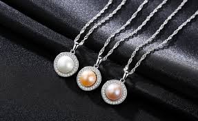 natural necklace pearl images Sterling silver natural pearl necklace chez sophie png