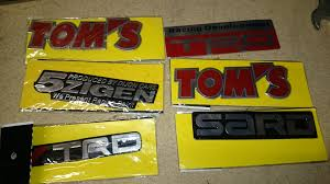 jdm sticker trd tom u0027s sard 5zigen car racing jdm sticker decals car parts