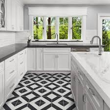 black and white kitchen floor images villa lagoon tile diagonal four a black and white 8 in x 8