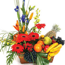 fruits flowers philgifts send gift baskets fruit and flower basket to