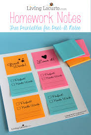 print on post it notes free printables for homework