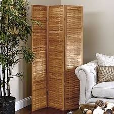 3 panel bamboo room divider wooden cover foldable screen divide