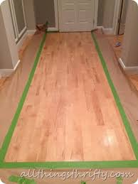 Hardwood Floor Rug How To Paint A Floor And What Not To Do All Things Thrifty
