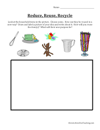 reduce reuse recycle worksheet have fun teaching