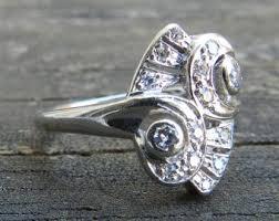 art deco animal ring holder images Vintage engagement rings etsy jpg