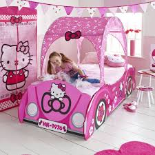 bedroom pink hello kitty bed linen and nice headboard for chic