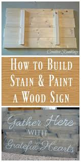 how to build and paint a wood sign wood signs woods and craft