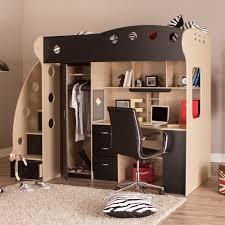 NIKA Loft Bed Maple Black - Jysk bunk bed