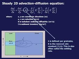 steady 2d advection diffusion equation where x y are coordinate directions