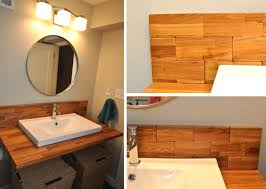 Bathroom Vanity Wood by Back Splash In Our Other Bathroom I Think It Turned Out Really