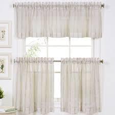 Jc Penneys Kitchen Curtains by Linen Stripe Rod Pocket Window Treatments