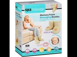 Spa Massage Foot Massager With Comfort Fabric Memory Foam Massaging Booties Full Review Youtube