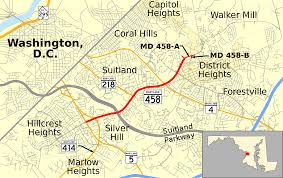 Washington Heights Map maryland route 458 wikipedia