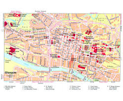 Travel Map Of Europe by Maps Of Glasgow Detailed Map Of Glasgow In English Tourist Map