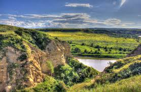 North Dakota landscapes images Free stock photo of landscape across the river at theodore jpg