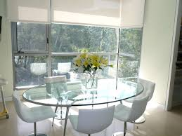 Dining Room Nooks Dining Room Modern Oval Glass Breakfast Nook Table Decor With