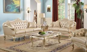 Traditional Leather Living Room Furniture Taj Traditional Sofa In Antique White Bonded Leather W Options