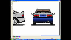 pixel art car how to make a pixel car ej8 civic youtube